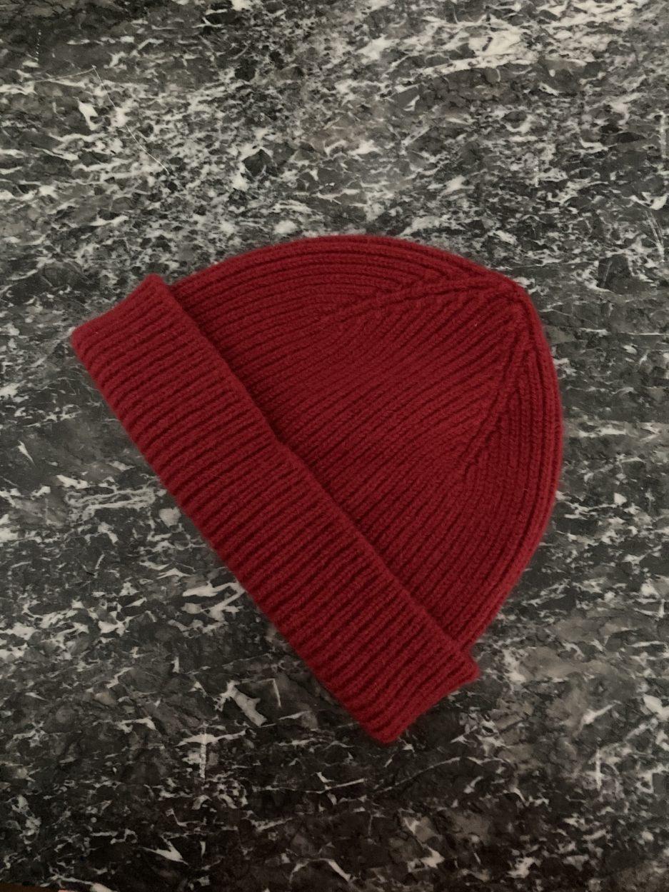 Bonnet court rouge // Navy